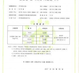 (케이산업) 친환경 건축자재 시험성적서 - 경질폴리우레탄폼단열재(2종)